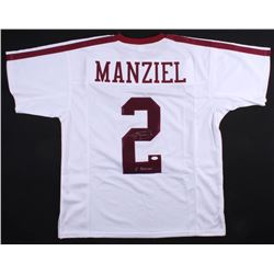 Johnny Manziel Signed Texas AM Aggies Jersey Inscribed  '12 Heisman  (JSA COA)