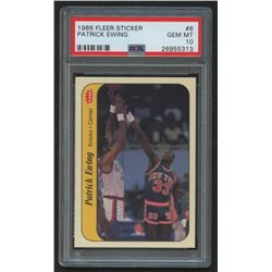 1986-87 Fleer Stickers #6 Patrick Ewing (PSA 10)