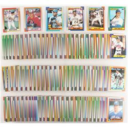 1990 Topps Complete Set of (792) Baseball Cards with #331 Juan Gonzalez RC, #220 Barry Bonds, #1 Nol
