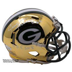 """Jerry Kramer Signed Packers Chrome Speed Mini-Helmet Inscribed """"HOF 2018"""" (JSA COA)"""