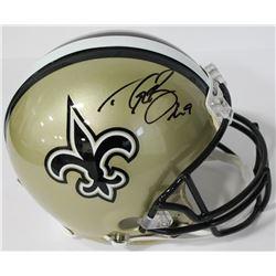 Drew Brees Signed Saints Authentic On-Field Full-Size Helmet (Beckett COA)