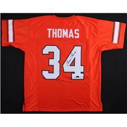 Thurman Thomas Signed Oklahoma State Cowboys Jersey (Radtke COA)