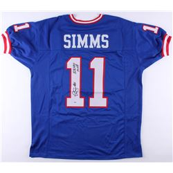 "Phil Simms Signed Giants Jersey Inscribed ""SBXXI MVP"" (PSA COA)"