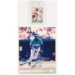 Ken Griffey Jr Signed Mariners 8x10 Photo  1989 Score Rookie/Traded #100T Ken Griffey Jr. RC (BCCG 1