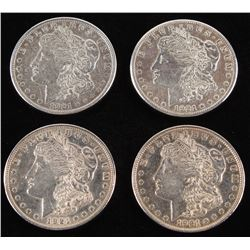 Lot of (4) 1921 Morgan Silver Dollars