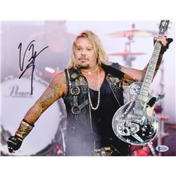 "Vince Neil Signed ""Motley Crue"" 11x14 Photo (Beckett COA)"