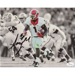 Sony Michel Signed Georgia Bulldogs 8x10 Photo (JSA COA)