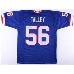 "Darryl Talley Signed Bills Jersey Inscribed ""2x Pro Bowl"" (JSA COA)"