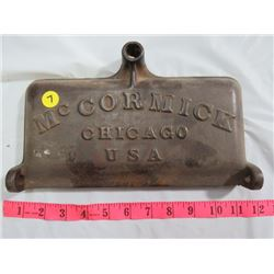CAST IRON MCCORMICK MOTOR LID, CHICAGO USA