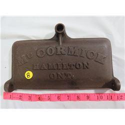 CAST IRON MCCORMICK MOTOR LID, HAMILTON, ONT