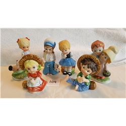 6 CHILD FIGURINES