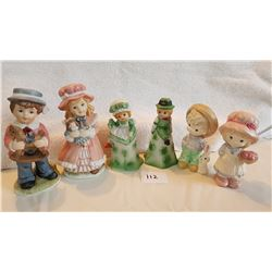 6-FIGURINES 3 MATCHING PAIR (2 IRISH THEME)