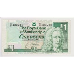 SCOTLAND 1 POUNDNOTE, ISSUED 1993