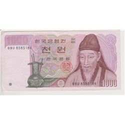 KOREA 1000 WON BANK NOTE