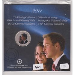 2011 COLORED 25 CENT PC WILLIAM & KATE WEDDING