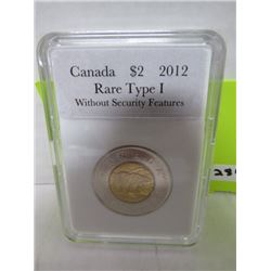 2012 CNDN $2 COIN, RATE TYPE W/O SECURITY FEATURES