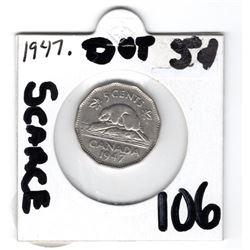 1947 DOT SCARCE: NICE SHAPE FEW SCRATCHES