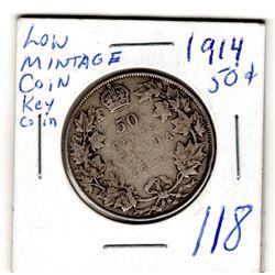 1914 50 CENT SEMI KEY DATE