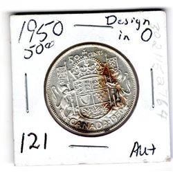 1950 DESIGN IN 6 50 CENT AU