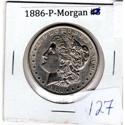 1886P U.S. MORGAN DOLLAR