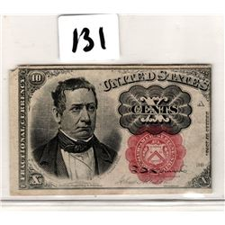 USA FRACTIONAL CURRENCY 10 CENTS SERIES 1874