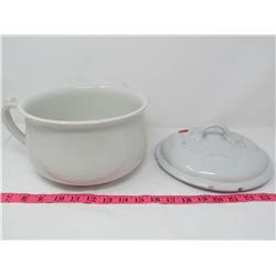 LIDDED THUNDER MUG FROM WILKINSON, ENG. *LID HAS CHIPS*
