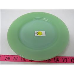 JADEITE GREEN FIRE KING PLATE