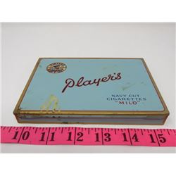 PLAYERS FLAT 50 CIGARETTE METAL BOX