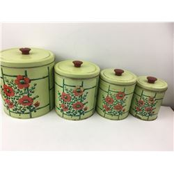 VINTAGE KITCHEN CANNISTER SET