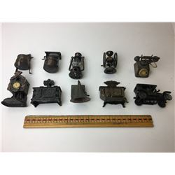 LOT OF 10 MINIATURES PENCIL SHARPENERS