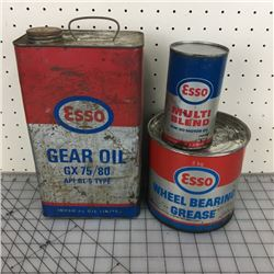 LOT OF ESSO OIL CANS *PINT IS FULL*