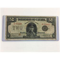 1923 DOMINION OF CANADA $2 BANKNOTE