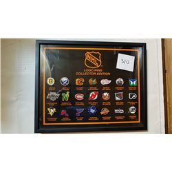 1989 NHL OFFICIAL LOGO PINS *FRAMED*