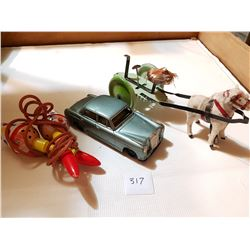 3 VINTAGE JAPAN TIN TOYS, *MERCEDES IS FRICTION OPERATED*