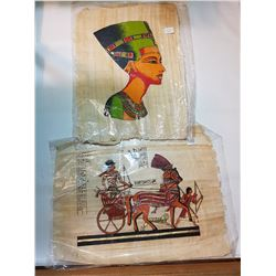 """VINTAGE EGYPTIAN PAPYRUS PAINTINGS 16""""X12"""""""
