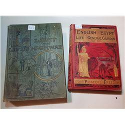 2 RARE ANTIQUE BOOKS, *BEAUTIFUL ILLUSTRATIONS*