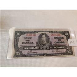 1937 $10 BILL, (GORDON TOWERS)