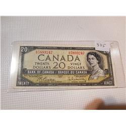 1954 $20 NOTE, (BEATTIE, RASMINSKY)