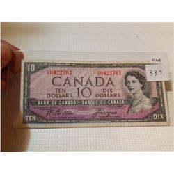 1954 $10 BILL, *DEVIL'S FACE*