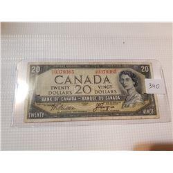1954 $20 BILL, *DEVIL'S FACE*