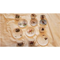 RCMP CUP AND SAUCER SETS - QTY 6