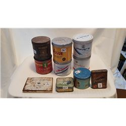 TOBACCO TINS, LOT OF 10