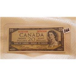 1954 $20 CNDN NOTE