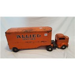 GIANT TOY LINCOLN ALLIED TRUCK TRAILER, 23""