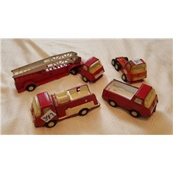 TONKA FIRE ENGINE (LOT OF 4)