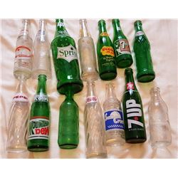 VINTAGE POP BOTTLES, *RARE 28 OZ. SPRITE* LOT OF 14