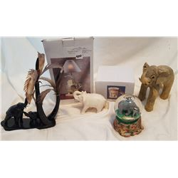 ELEPHANT RELATED LOT, 6 PIECES