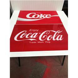 """2 PLASTIC COKE LENSE 22.5X35.5"""""""