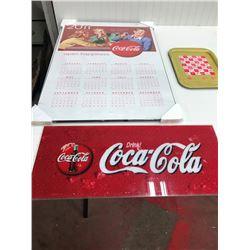 """COKE LENSE 28""""X12"""", (CALENDAR AND TRAY)"""