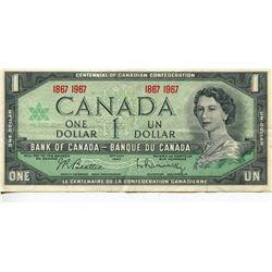 1967 CNDN $1 BANK NOTE BEATTIE/RASMINSKY